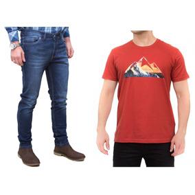 Kit Masculino Calça Jeans E Camisa Laranja All Terrain Atr