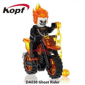Figuras Compatible Con Lego De Ghost Rider En Moto