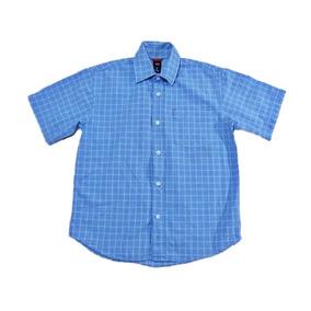 Camisa Manga Corta Gap Cuadros Azul Baratísima! Niño #72