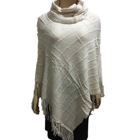 Poncho Feminino Gola Alta De Tricô Tricot /blusa/casaco