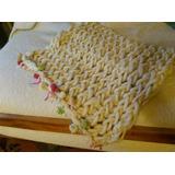 Cobertor 100% Lana De Oveja, Para Bebe...esta Tejido A Mano
