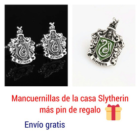 Harry Potter Slytherin Hogwarts Mancuernillas Gemelos Camisa