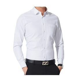 Camisa Masculina Slim Fit Social Moderno-sapato Verniz Luxo*
