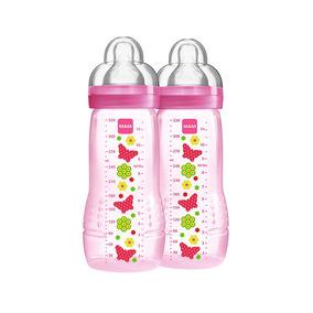Mamadeira Fashion Bottle - Girl - 330ml - Double Pack - Flor