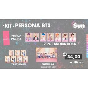 3 Kits Persona Bts Photocard Polaroid Pôster K-pop Fanmade