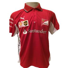 Camiseta Camisa Ferrari Santander Masculina Promoção