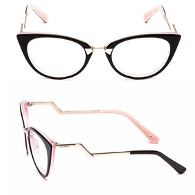 7e5ad861068b5 Armação Óculos Estilo Gatinho Feminino Acetato Frete Grátis