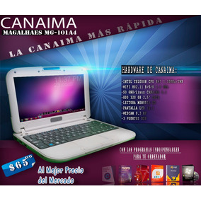 Mini Laptop C-a-n-a-i-m-a Letrs Roj@s Con Su Cargador Y +!