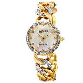 7be7a275ae0 Reloj De Eslabones Bisel As8190yg 12 Auténticos De Diamant