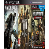 Watch Dogs & Army Of Two & Heavy Fire Afghanistn Digital Ps3