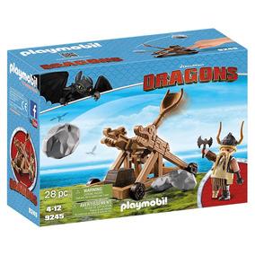 Playmobil - Como Treinar Seu Dragão - Bocão Com Catapulta -