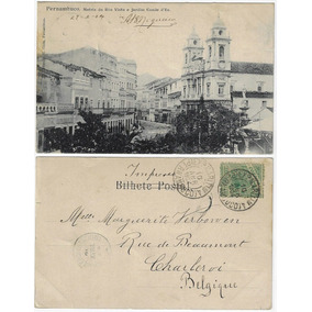 Pe 1904 Cartão Postal Matriz Boa Vista Jd. Conde D´eu Recife