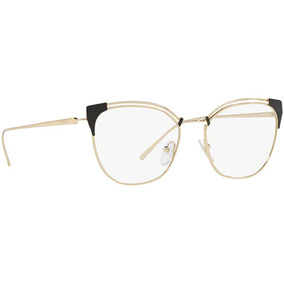 6ba40e1593d08 Armacao Oculo Grau Feminino Prada - Óculos Preto no Mercado Livre Brasil