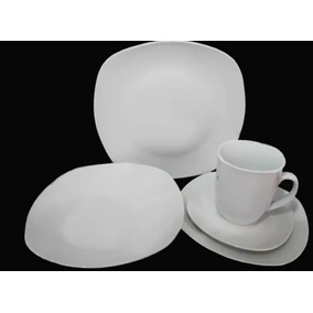 Jogo De Jantar C/30 Peças De Porcelana Todo Branco