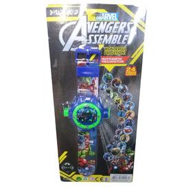 Relógio Infantil Os Super Heroes Vingadores Projeta Imagens