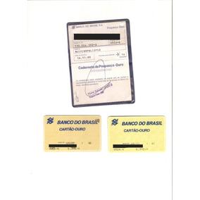 Lote 53 Caderneta De Poupança Com Cartões De Credito Ouro