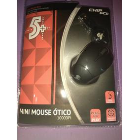 Mini Mouse Ótico 1000dpi 5+ Chip Sce Preto Emborrachado