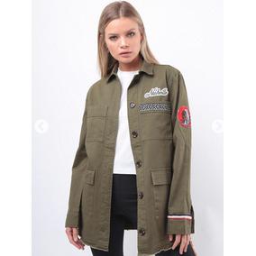 Chaqueta Verde Militar Mujer - Ropa y Accesorios en Mercado Libre ... 0a6f966b332c