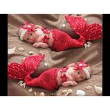 Disfraz De Bebé Sirena Apoyo De Fotografía Ropa 2-6 Meses