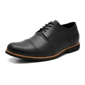 Sapato Masculino Social Oxford Couro Tamanho Especial 6815/2