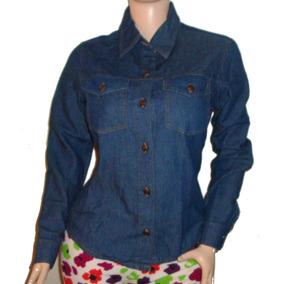 Camisa Jean Para Dama Manga Larga A La Moda