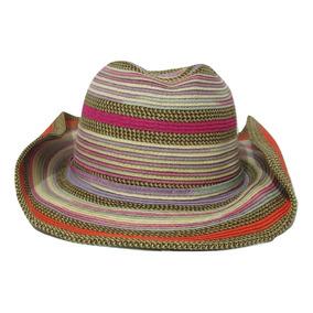 Chapeu De Praia Colorido - Acessórios da Moda no Mercado Livre Brasil d355f0f1744