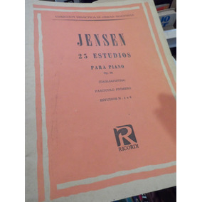 Partitura 25 Estudios Op 32 Libro 1 Piano Jensen Ricordi