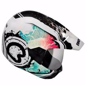 Capacete Bieffe 3 Sport Spring Branco azul - Acessórios de Motos no ... a6227621708