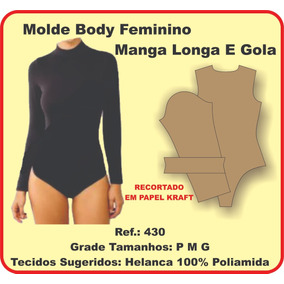 Molde Body Feminino Manga Longa E Gola 430