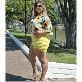 Short Sarja Feminino Tamanhos Grandes Plus Size Até 60 Verão