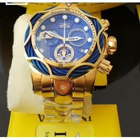 56b3a4182fe Relógio Invicta Reserve Venom 14504 Gold 18k.1000 Metros - Relógios ...