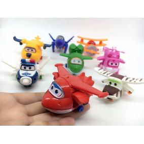 Kit Com 8 Personagens Transform Brinquedo Super Wings