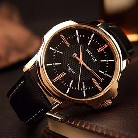 Relógio Original Masculino Couro Casual + Caixa Brinde
