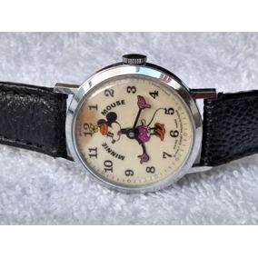 00c368b48 Reloj Walt Disney Bradley Minnie Mouse Cuerda De Coleccion