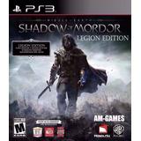 Shadow Of Mordor Edicion Legion ~ Ps3 Digital Español