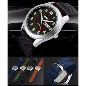 Relojes Tipo Militar Sport 4 Colores Correa De Lona Analogo 42dad780533