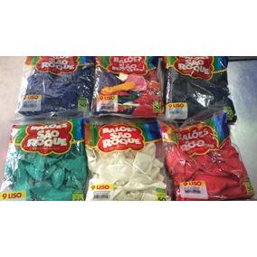 Balões São Roque Nº9 10 Pacotes C/50un R$109,90