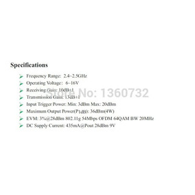 Amplificador 2.4ghz 4w