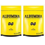 2x Albumina 500g Naturovos Total 1kg (sabores) Val 01/2020