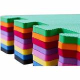 Kit 49 Tapetes Tatame Em Eva Decorativo Encaixe 50x50cm 20mm