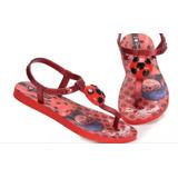 Chinelo Sandália Ladybug Infantil Ipanema Grendene