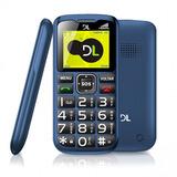 Celular Dl Yc120 Azul - Dual Chip, Rádio Fm, Lanterna, Bot