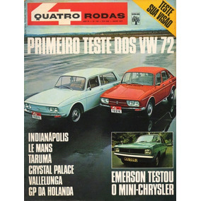 Quatro Rodas Nº132 Vw Tl Variant 1972 Emerson Mini-chrysler