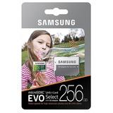 Samsung Evo 256gb 100m/s 4k Microsd Memoria Micro Sd U3