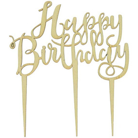 5efce197a7 El Jengibre Ray Bh-762 Feliz Cumpleaños Boho Cake Topper De