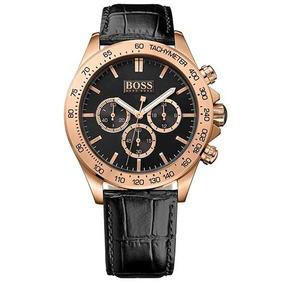 Relógio Hugo Boss Cronógrafo Masculino Couro Rose 1513179