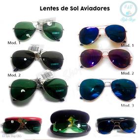 Lentes De Sol Aviador Unisex Incluye Estuche Y Pañito 600c3b1a6e3b