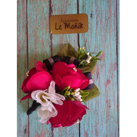 Boutonniere De Flores Rojas ,boda ,quince Graduacion