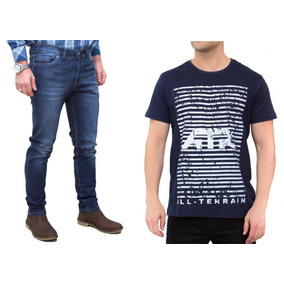 Kit Masculino Calça Jeans Camisa Marinho All Terrain Atr