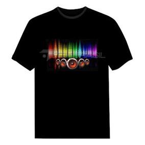 Camiseta Led Eletronica Camisa Luminosa 10 - Alto Falantes